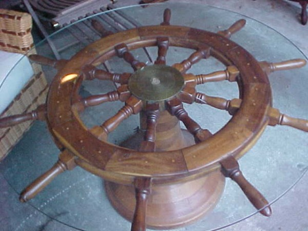 Antique Ship S Wheel Coffee Table Obnoxious Antiques
