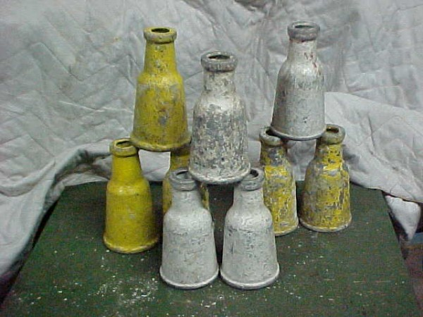 Early Carnival Metal Milk Bottles 171 Obnoxious Antiques