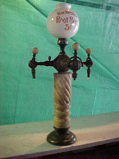 Turn Of The Century Marble Drug Store Soda Fountain