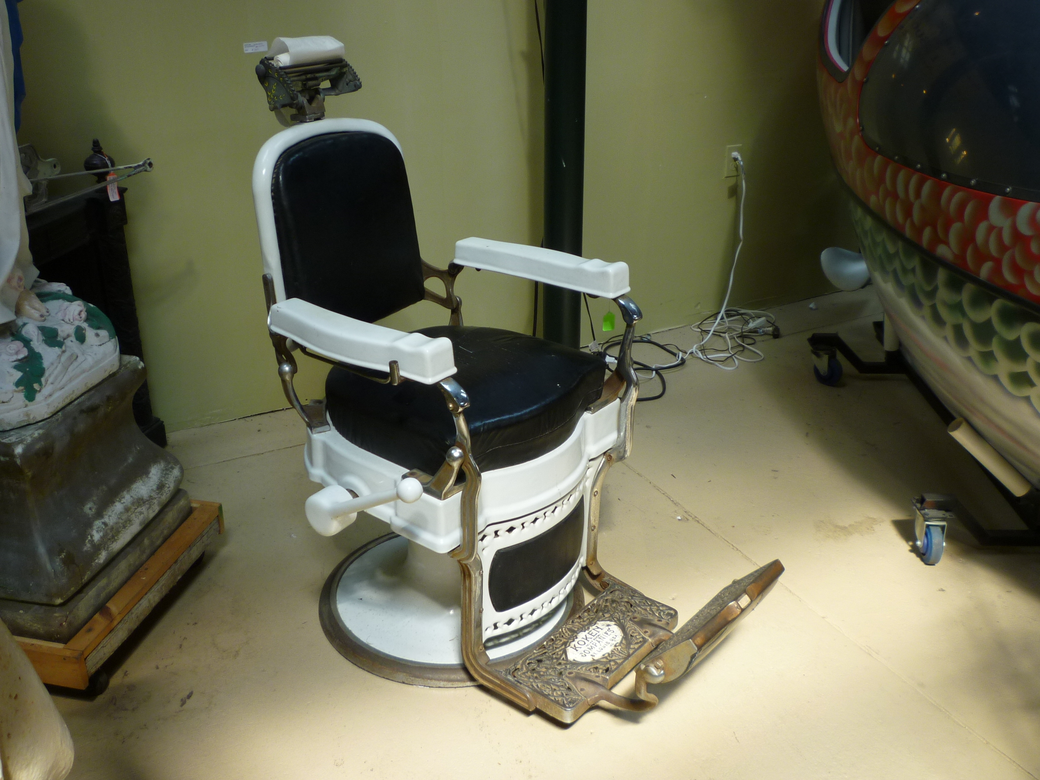 1930 s Koken Barber Shop Barber Chair Obnoxious Antiques