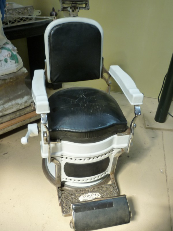 Additional Images - 1930's Koken Barber Shop Barber Chair « Obnoxious Antiques