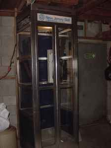vintage pay phone booth