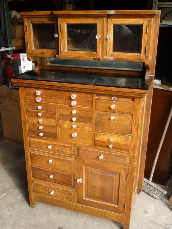 Antique Oak Dentist Cabinet 171 Obnoxious Antiques