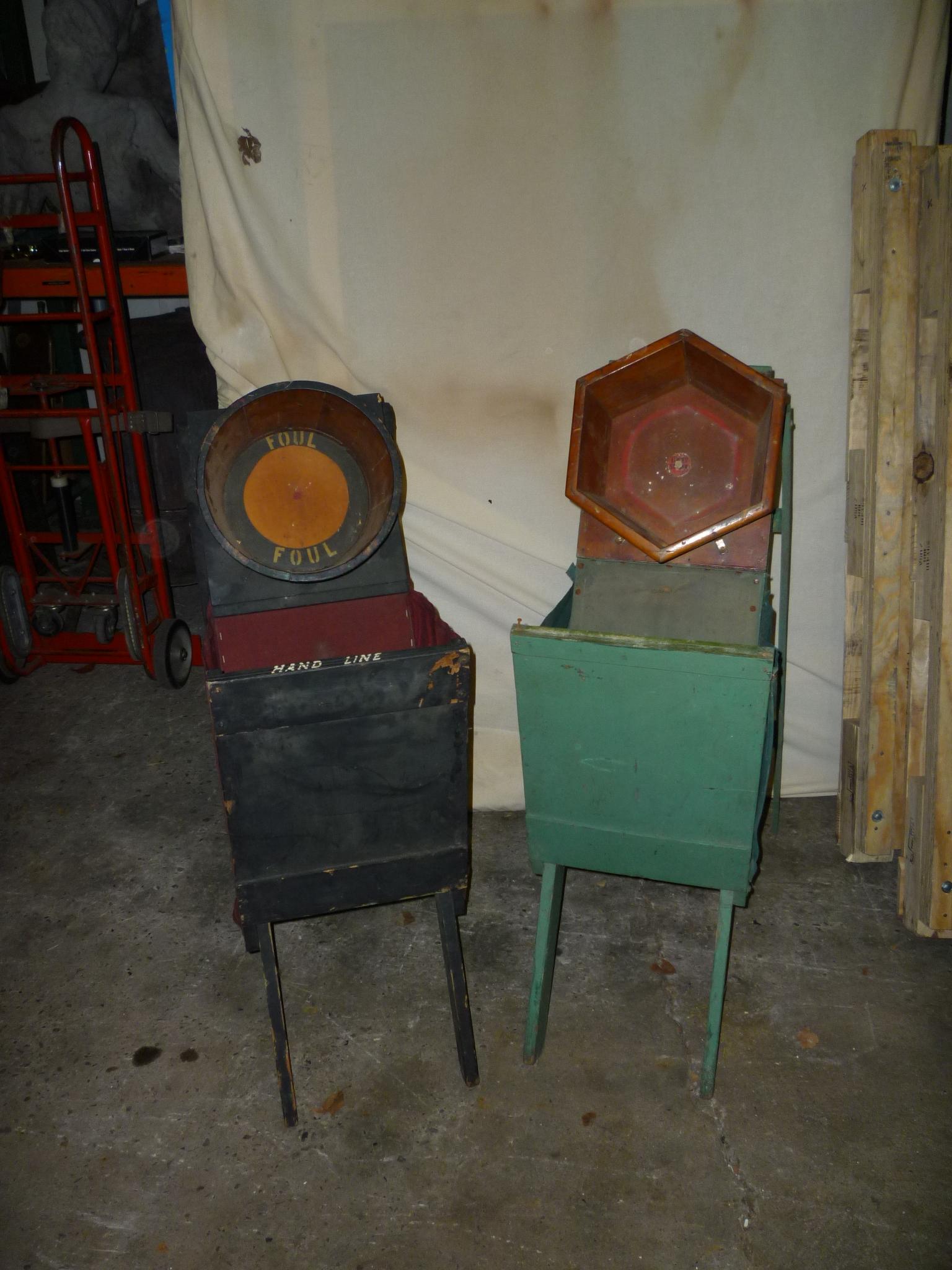 Antique bucket chair - Antique Carnival Midway Scissor Bucket Game