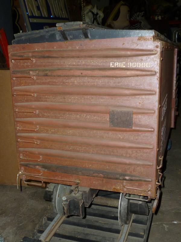 Antique Erie Railroad Freight Box Car Display 171 Obnoxious