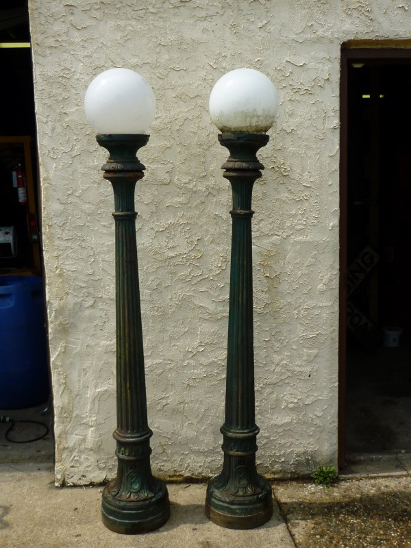 Antique Art Deco Cast Iron City Hall Lamp Post 171 Obnoxious