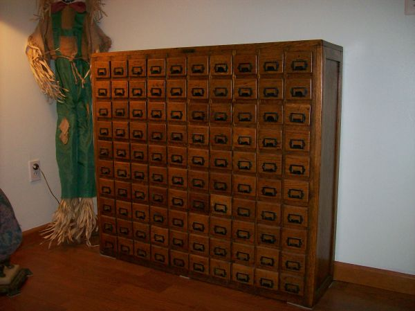100 drawer cabinet - Antique Oak 100 Drawer Hardware Store Cabinet « Obnoxious Antiques