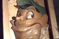 paper mache funhouse head man 1