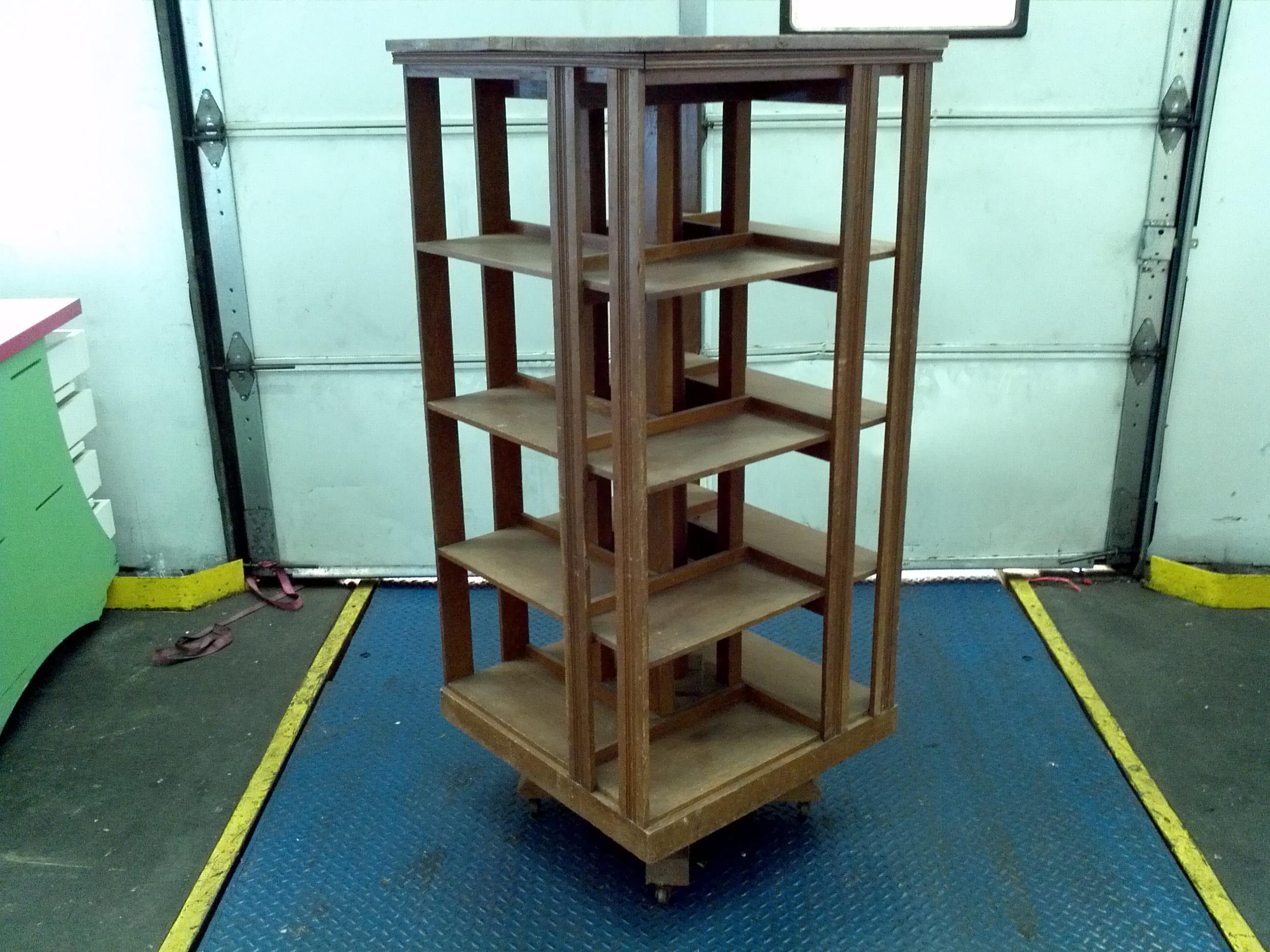 id pieces revolving georgian f storage case bookcases furniture bookcase at rotating master mahogany