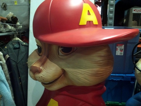 alvin and the chipmunks theater lobby display obnoxious antiques