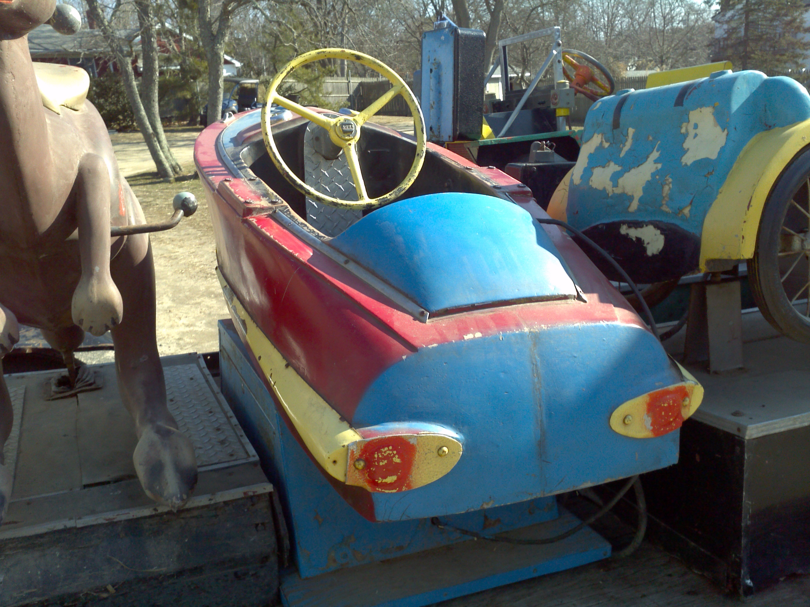Old Coin Operated Penny Arcade Kiddie Ride Boat « Obnoxious Antiques
