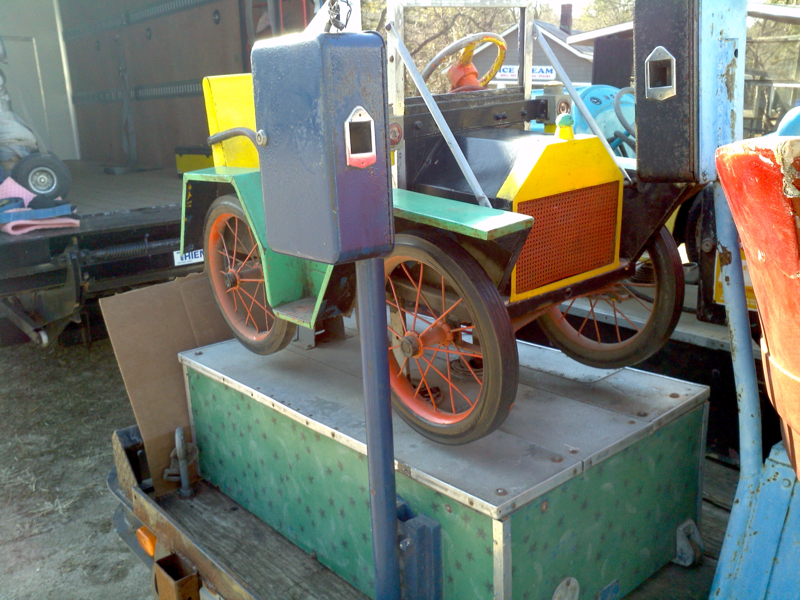 Old Coin Operated Penny Arcade Jalopy Kiddie Car Ride « Obnoxious ...