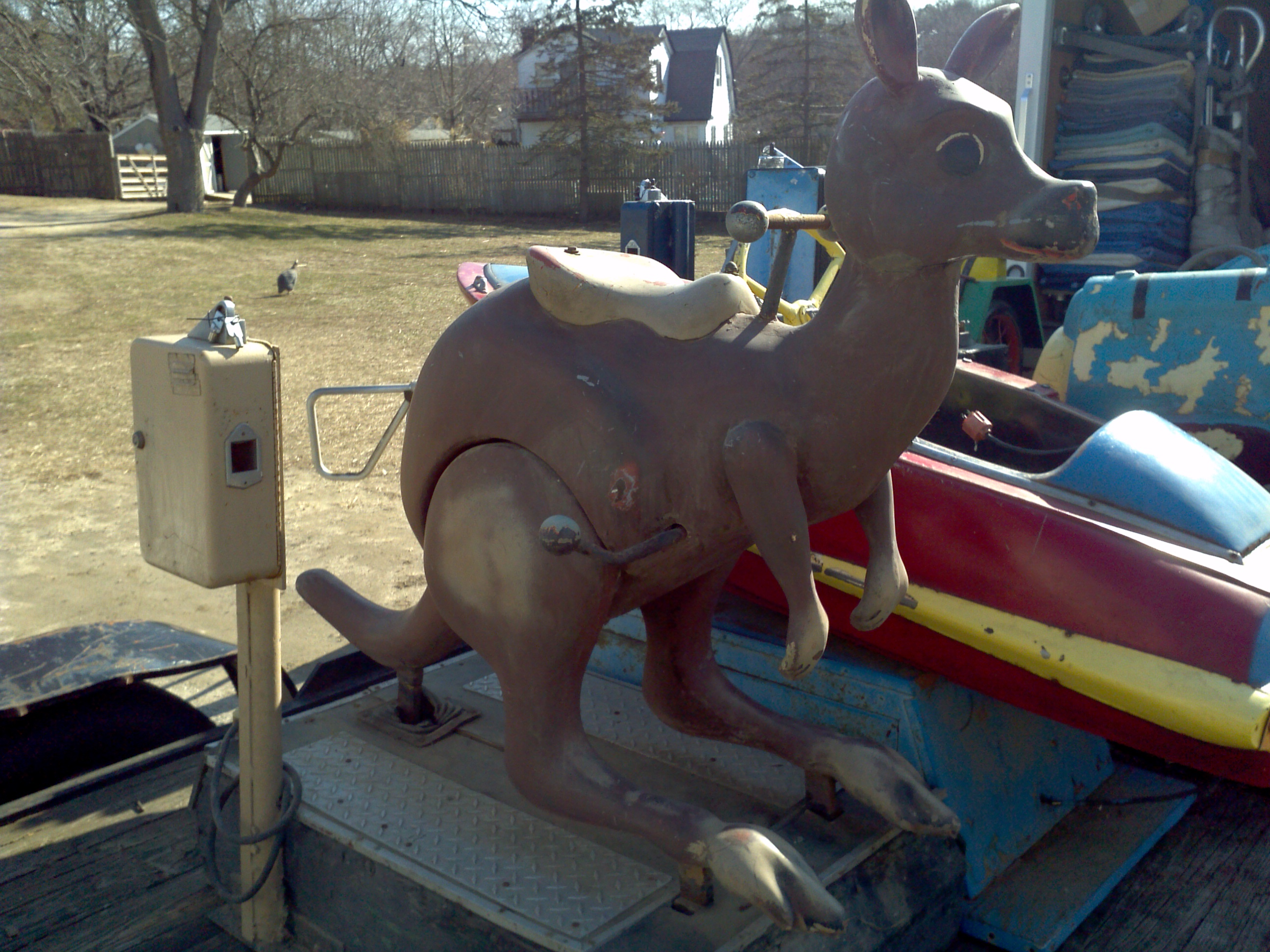 Old Coin Operated Penny Arcade Kangaroo Kiddie Ride « Obnoxious ...