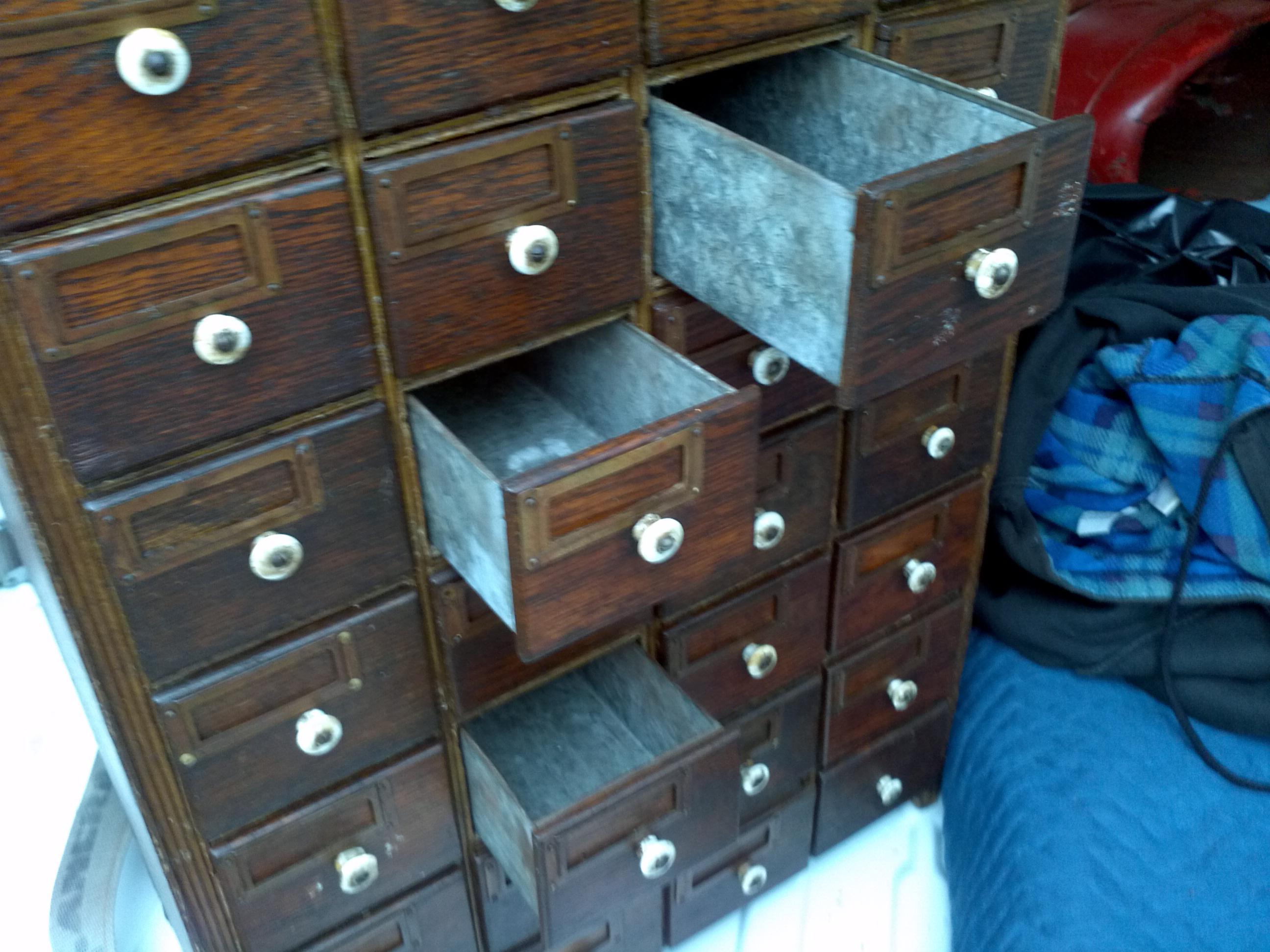 Antique Oak Hardware Store Cabinet « Obnoxious Antiques