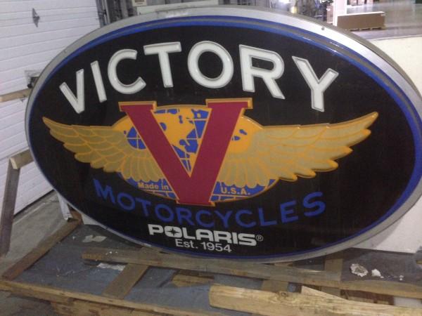 Vintage Signs For Sale >> Vintage Victory Motorcycle Dealer Sign « Obnoxious Antiques