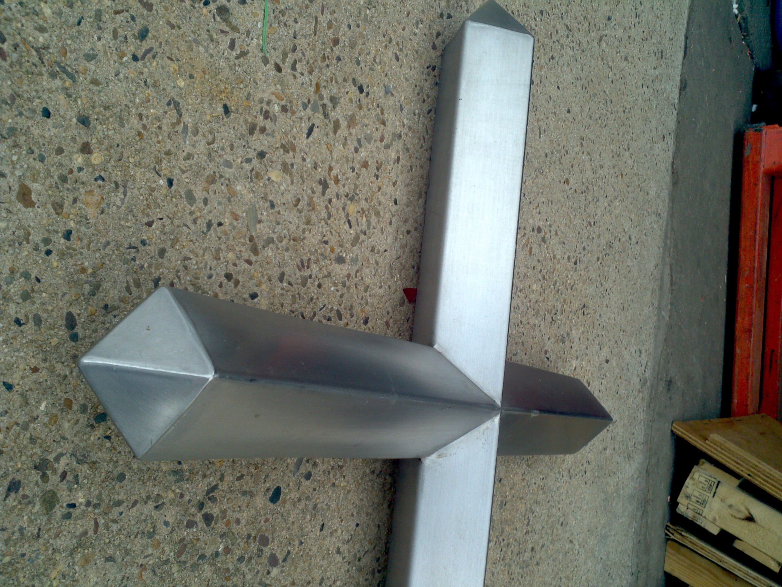 Vintage stainless steel wall mounted church cross - Exterior church crosses for sale ...