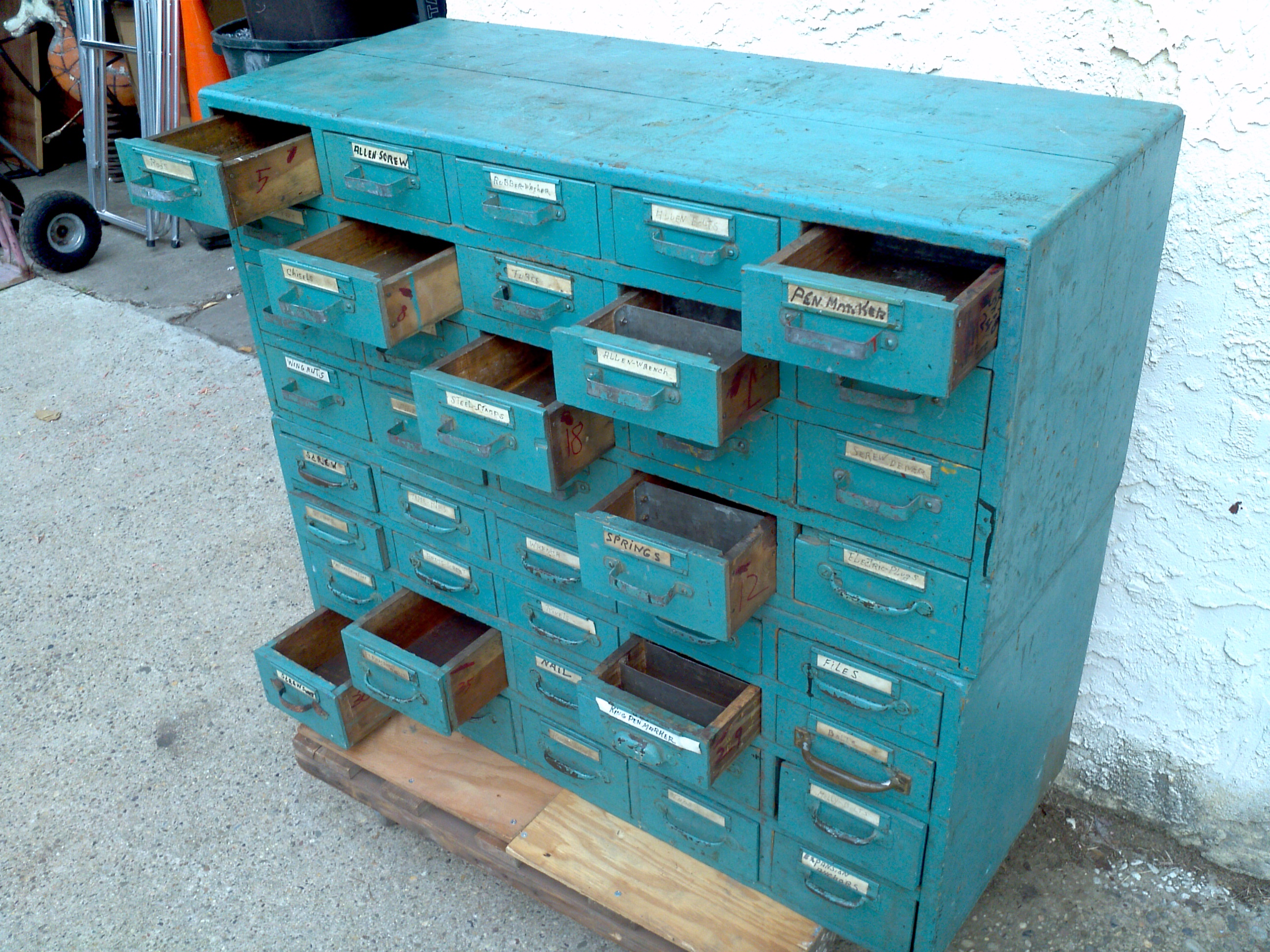 Antique Drawer Cabinet Antique Multi Drawer Oak Hardware Cabinet Obnoxious Antiques