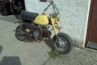 honda yellow mini bike 2
