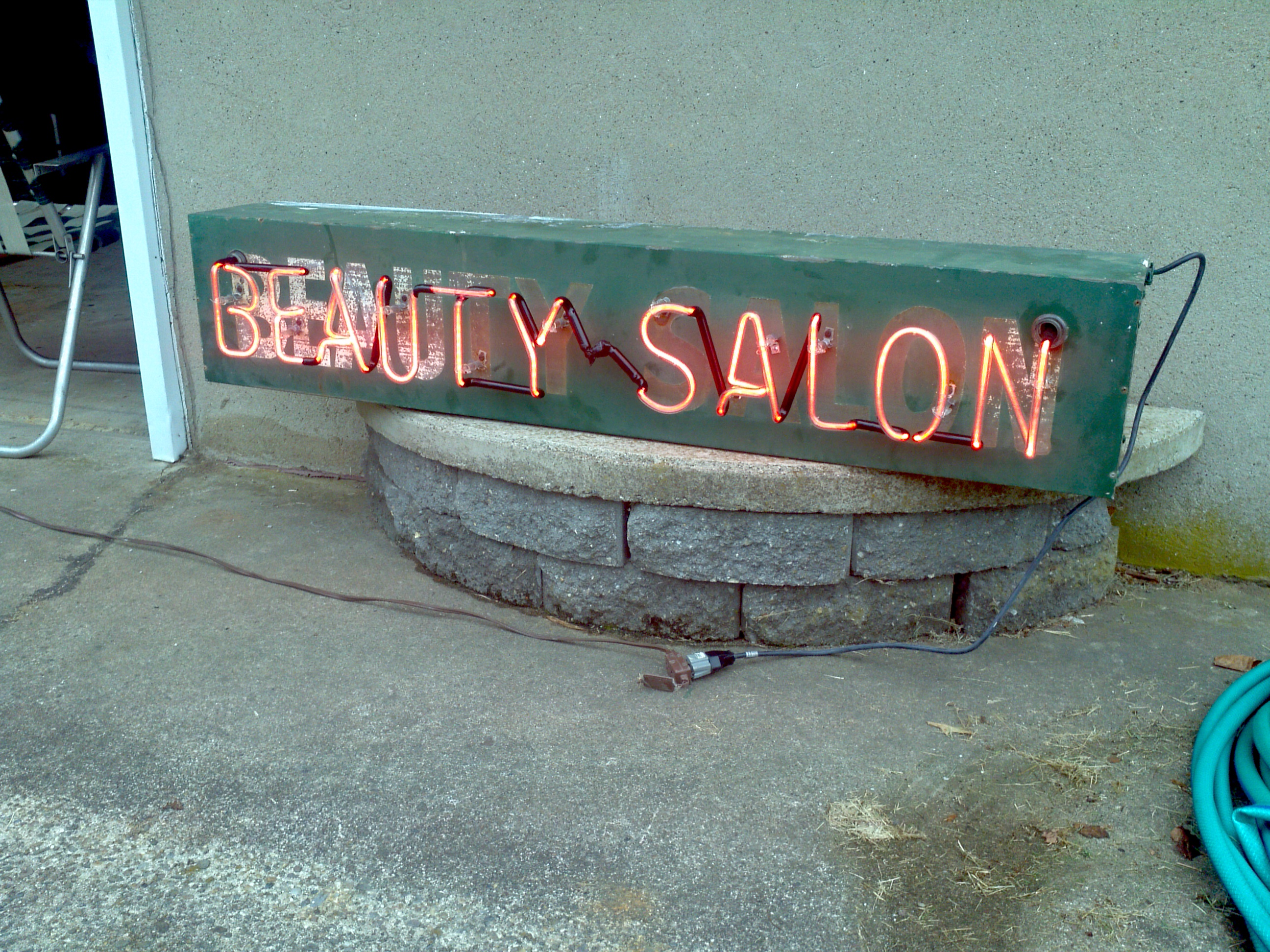 Vintage Beauty Salon Neon Obnoxious Antiques
