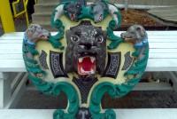 carousel rounding board wolf  head 7