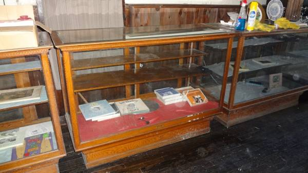 display case oak store - Group Of Antique Oak Store Display Cases « Obnoxious Antiques