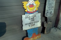Carnival Clown Wooden Sign 3 jpg