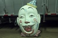 clown face amusement park  faded 3