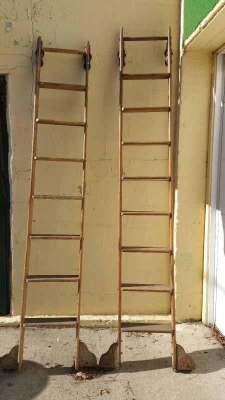 antique rolling library ladders  u00ab obnoxious antiques
