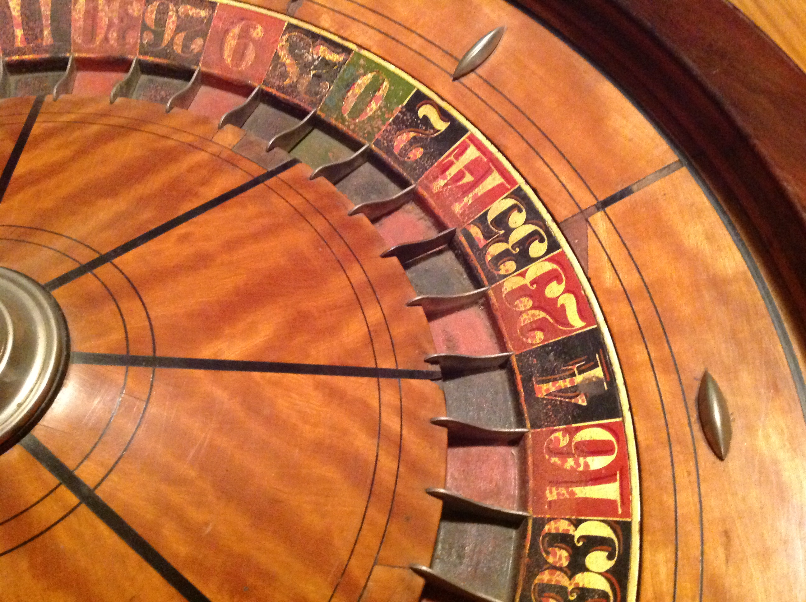 Antique Roulette Wheel In Coffee Table Obnoxious Antiques