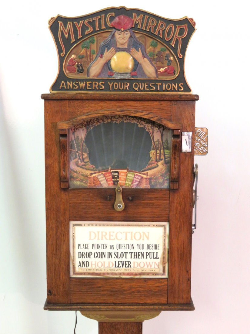1925 Mutoscope Mystic Mirror Penny Arcade Fortune Telling