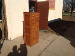 cabinet multi oak tall  7
