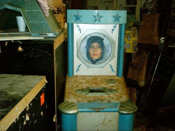 Antique Penny Arcade Madame Zola Fortune Telling Machine