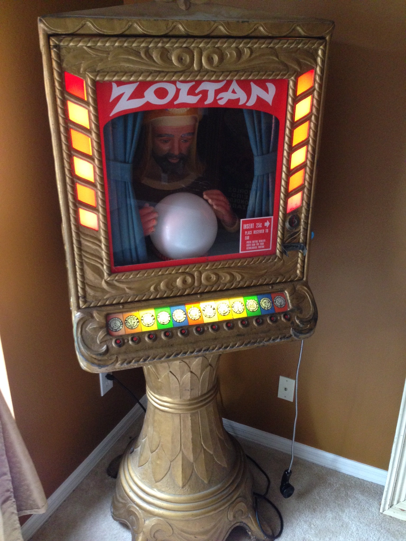 antique fortune teller machine