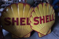 shell gas station signs