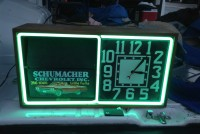 neon advertising clock 7