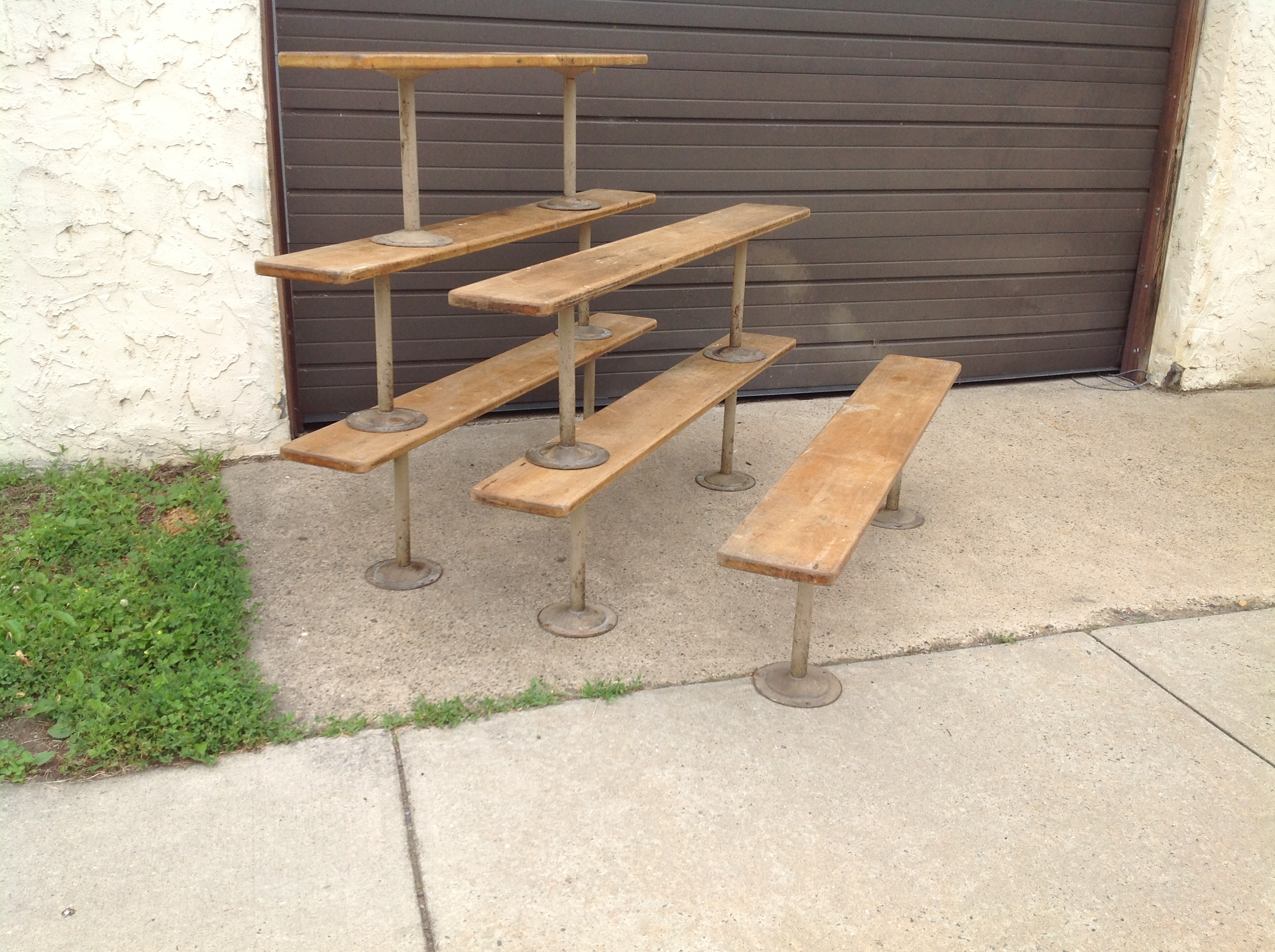 Group of vintage gym locker benches « obnoxious antiques