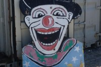 clown wooden sign
