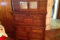 dental cabinet oak 10