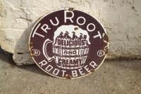 sign porcelain tru root rootbeer  1 1