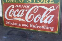 coke sign drug store large