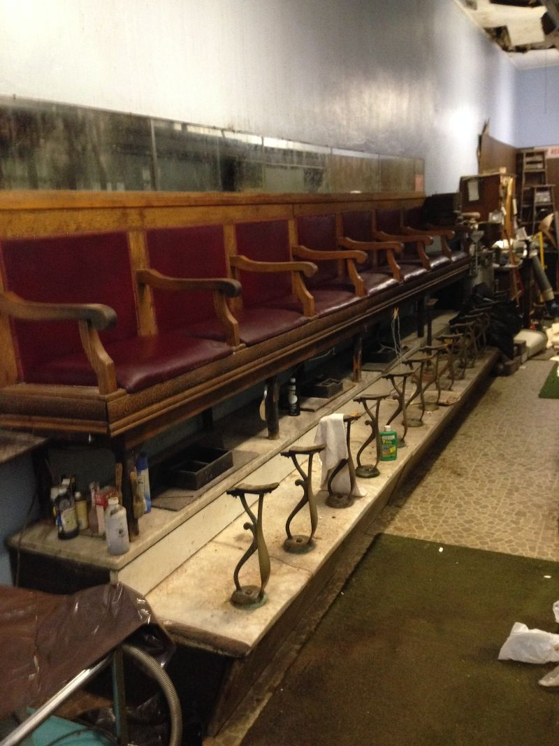 shoe-shine-stand-18-foot - Antique Shoe Shine Stand {18 Foot Long} « Obnoxious Antiques