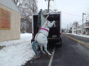 horse fiberglass white 4