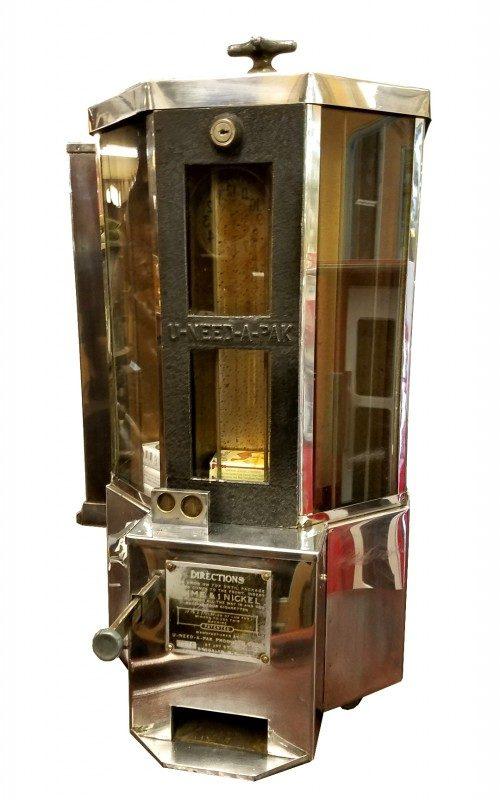 1932 Coin Operated U Need A Pack Cigarette Vending Machine