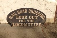 locomotive cast sign 2
