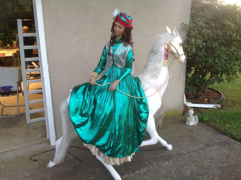 lady on horse animation 5