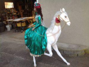 lady on horse animation 6
