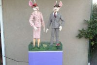 rabbit pair animated store display 7