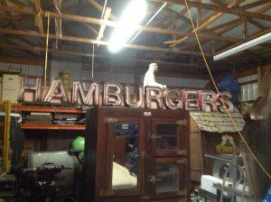 neon hamburger 2