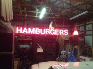 neon hamburger 5