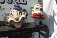 clown heads paper machie 1